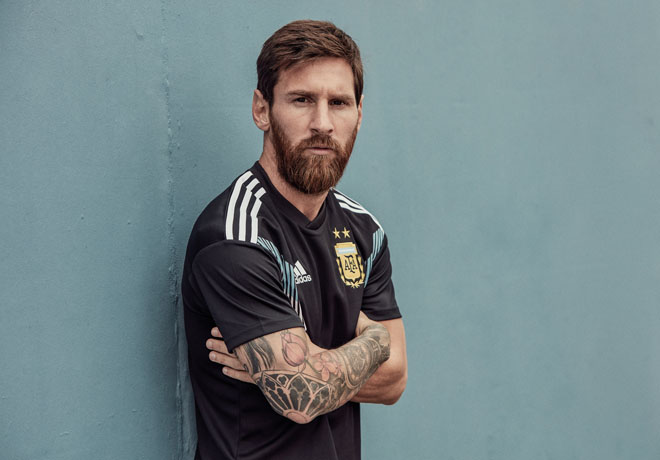 adidas Lionel Messi - Camiseta-Seleccion Argentina Rusia 2018 - Alternativa