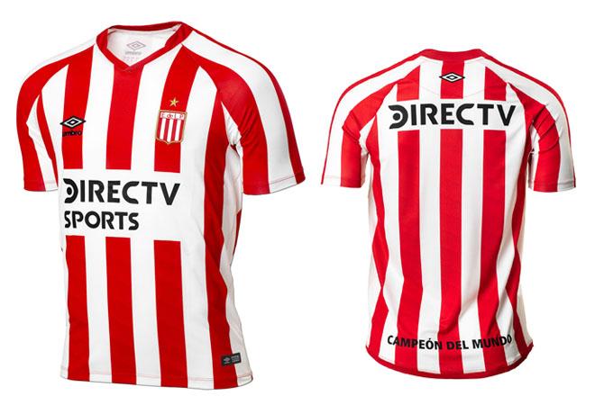Estudiantes de La Plata presentó su nueva camiseta.