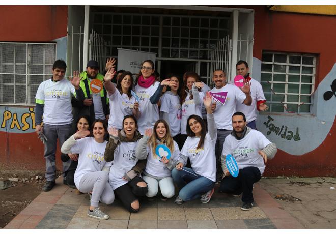 Colaboradores de L'Oreál en el Citizen Day 2018 (2)